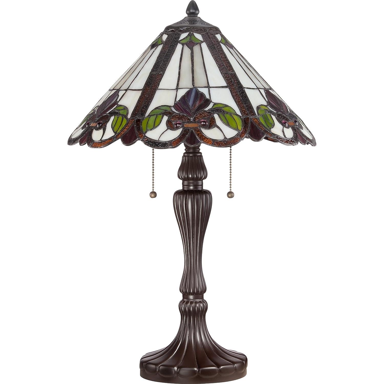 Quoizel Tf1425twt 2 Light Tiffany Table Lamp Small Western Bronze