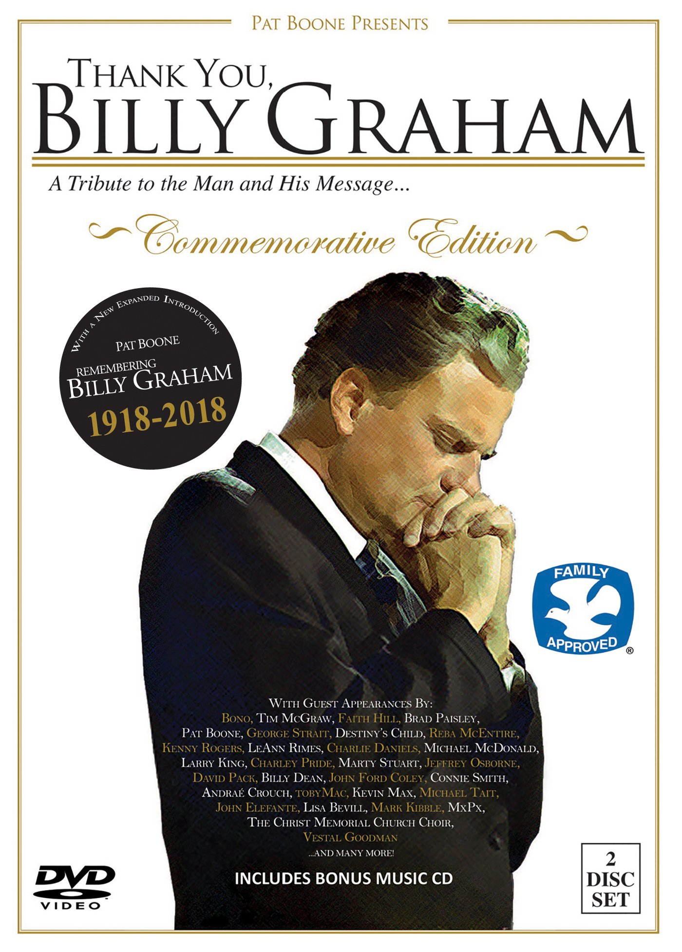DVD : Bono - Thank You, Billy Graham: A Tribute To The Man And His Message... (With CD, 2PC)