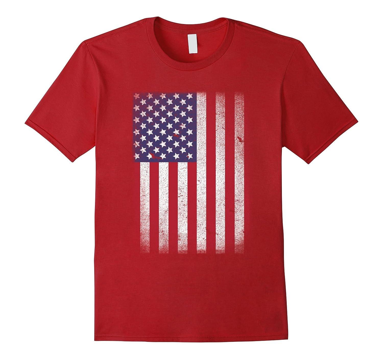 62df5ad2cf9f USA Flag T-shirt 4th July 4 Red White Blue Stars Stripes Tee-RT ...