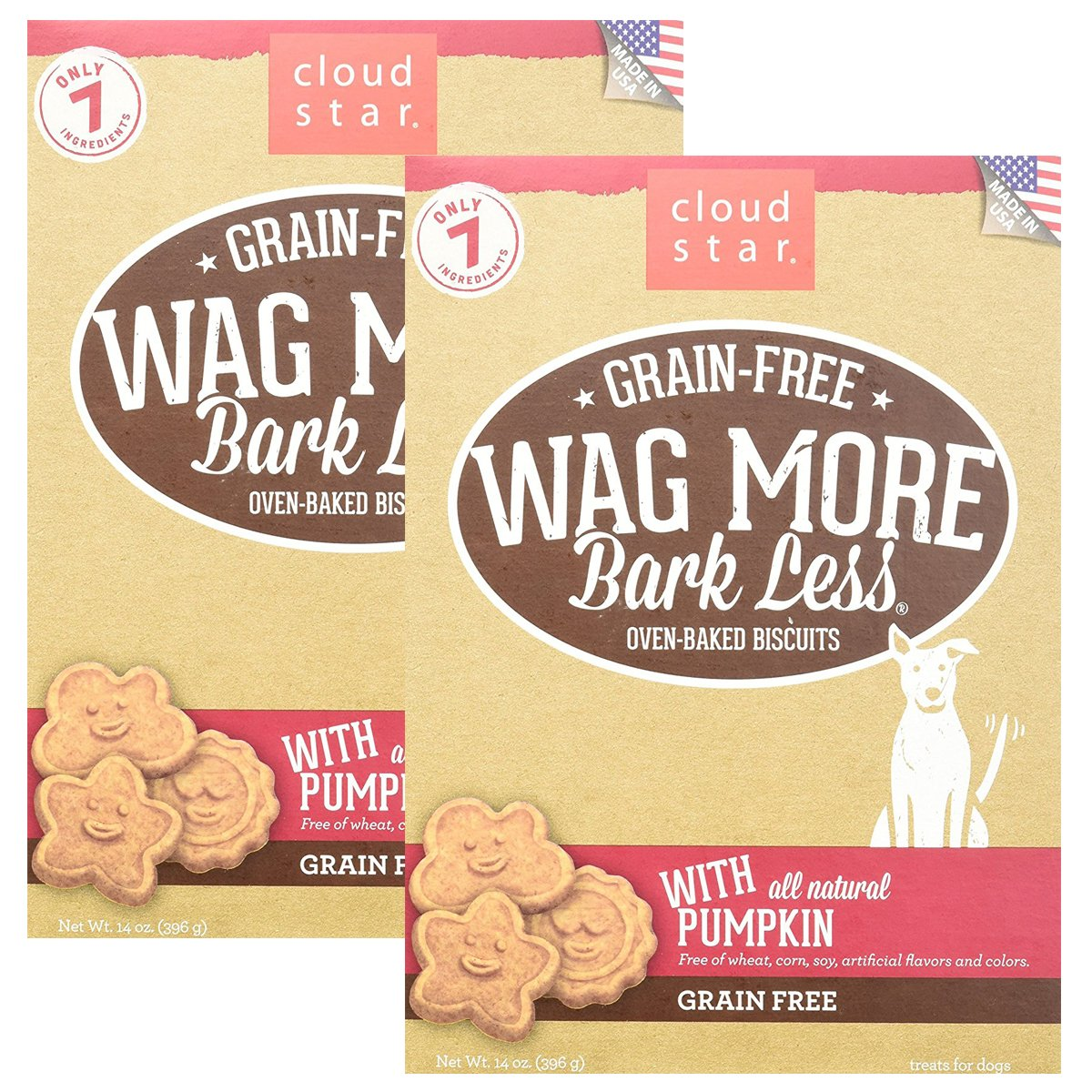 Cloud Star Wag More Oven Baked Grain Free Biscuits - 28 ounce Pumpkin
