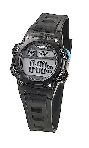 a3a694d713880 Freegun - EE5158 - Montre Garçon - Quartz Digital - Cadran Noir - Bracelet  Plastique Noir
