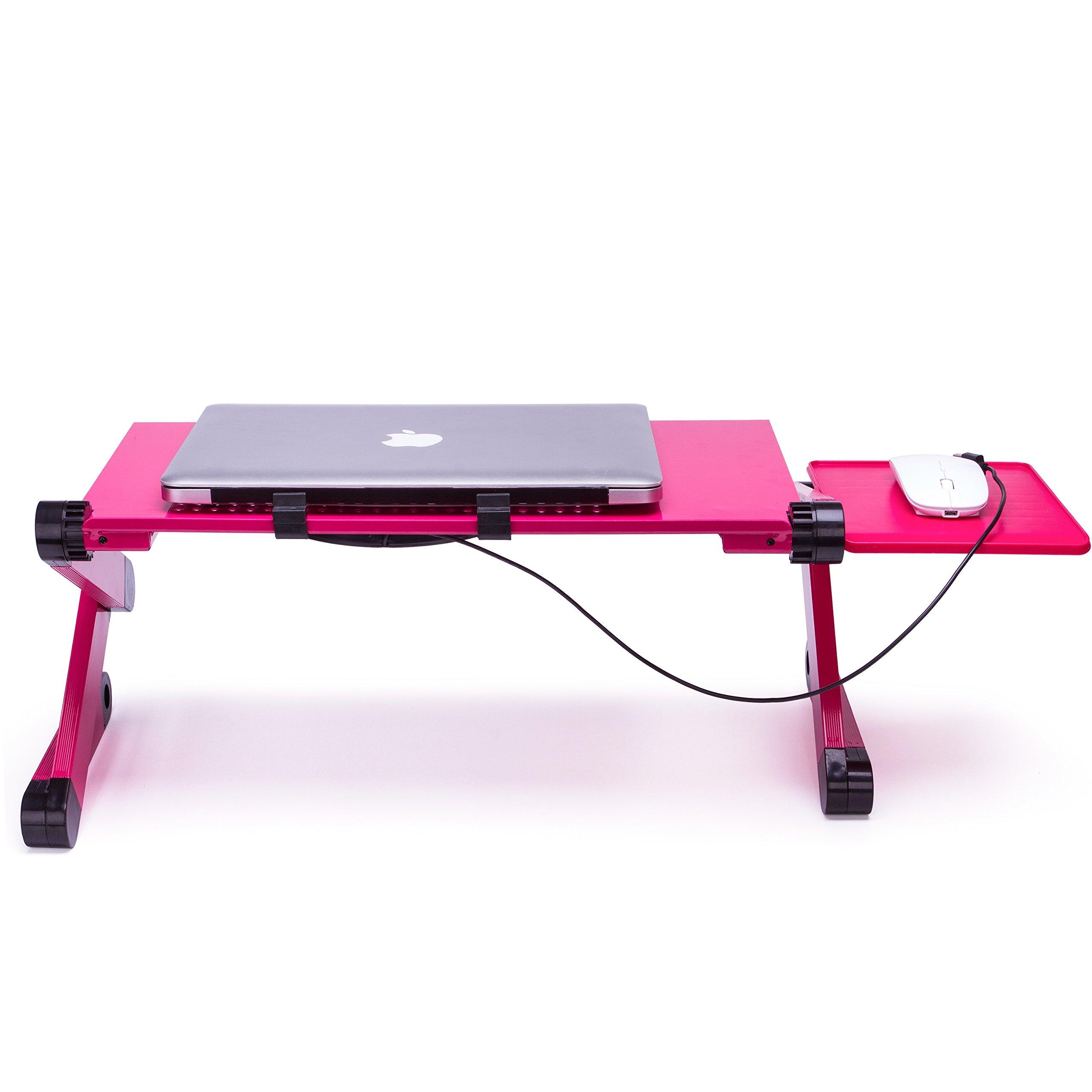Mesa Multifunción Portátil Tabla Mesa Soporte con Base de refrigeración para portatils de 17\