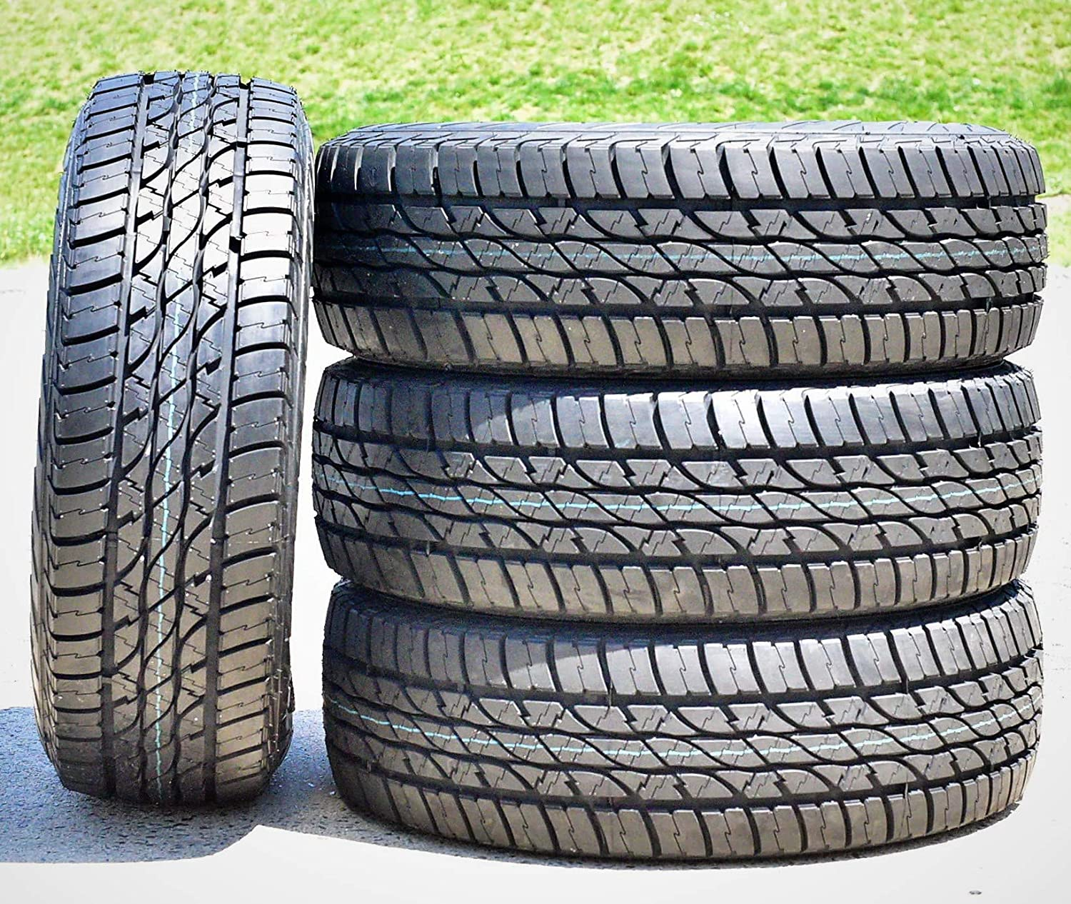Set of 4 Accelera Omikron A//T All-Terrain Radial Tires-215//75R15 100S FOUR