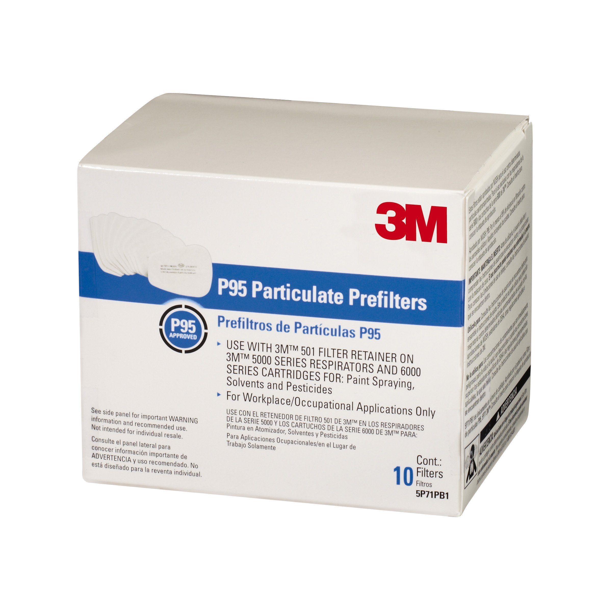3Maa7|#3M 5P71PB1-B Particulate Prefilters, 10/ Pack, 5 Packper Case, by 3M Safety (Image #2)