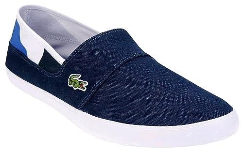 Lacoste Sport Scarpe Scarpa Uomo Navy Blu Jeans Marice 117 2 Cam Nvy Canvas  Tela Mocassino de405e6863a