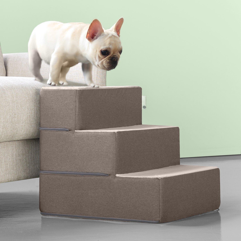 Zinus Easy Pet Stairs / Pet Ramp / Pet Ladder, Medium, Sand by Zinus