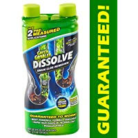 Green Gobbler GGDIS2CH32 DISSOLVE Liquid Hair & Grease Clog Remover / Drain Opener /Drain cleaner/ Toilet Clog Remover (31 OZ.)