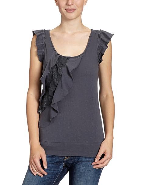 Vero Moda Moda - Blusa con cuello redondo para mujer, color azul (ombre blue