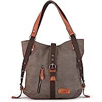 SHANGRI-LA Purse Women's Canvas Tote Bag Casual Shoulder Bag Handbag Rucksack Backpack