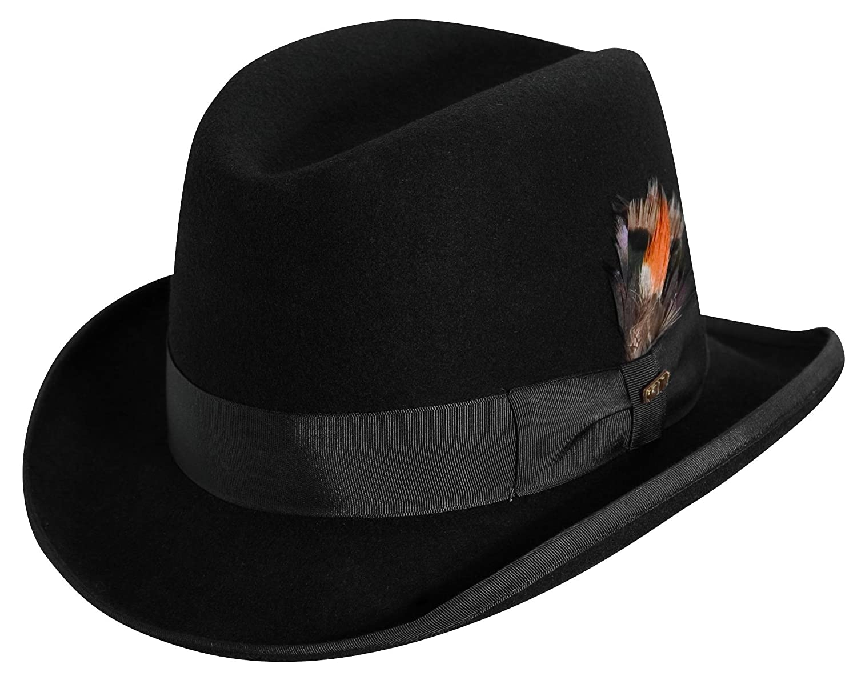 318b2c9e4cf Scala Classico Men's Wool Felt Homburg Hat at Amazon Men's Clothing store:
