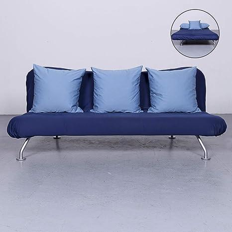 Amazon Com Bruhl Sippold More Designer Stoff Sofa Blau Dreisitzer