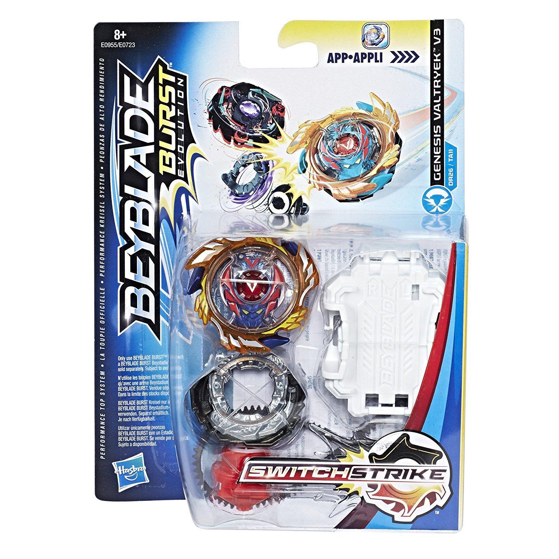Hasbro Beyblade Burst E1034EL2 Beyblade Switch Strike Starter Pack Genesis Valtryek V3 RD Multicolore Toupe