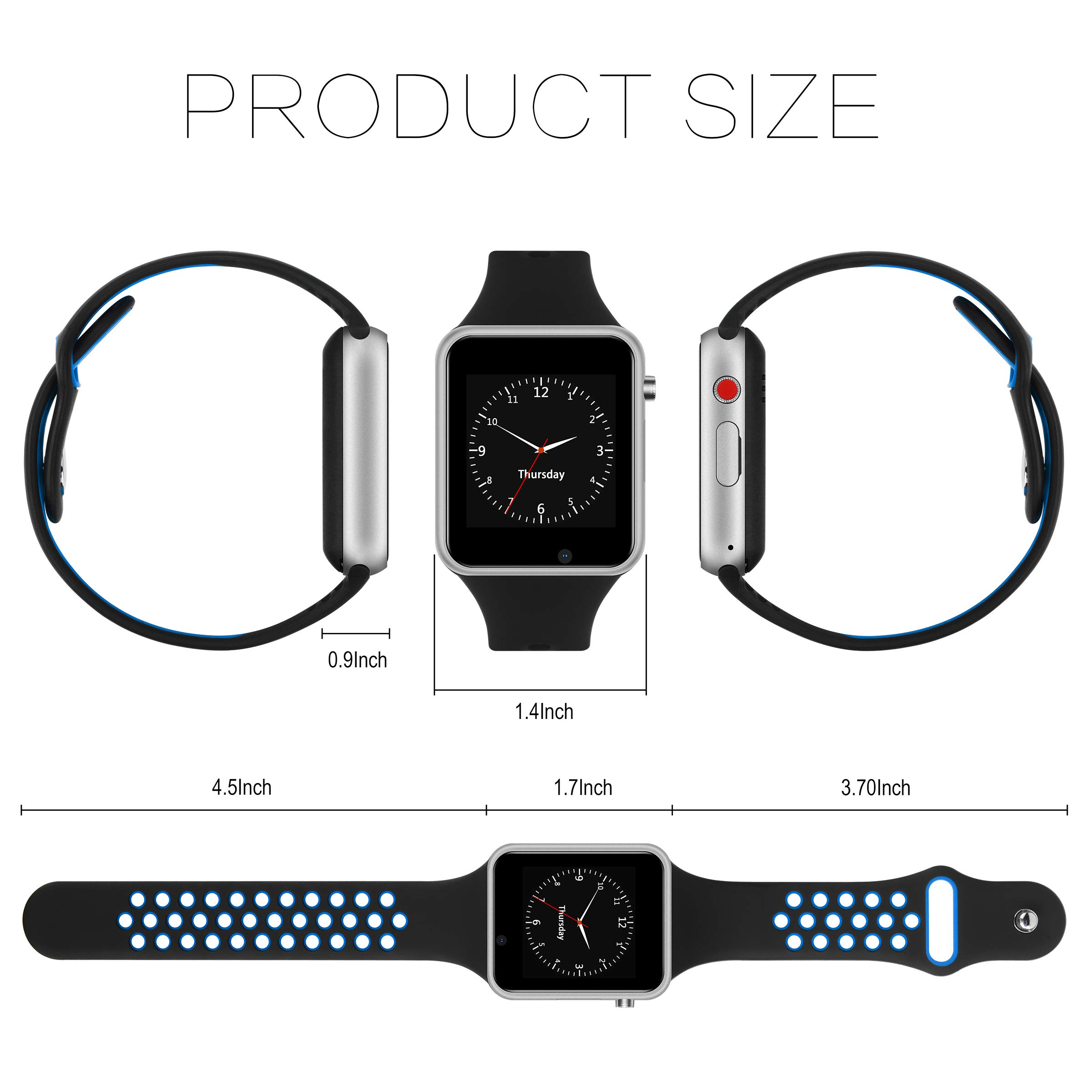 Smart Watch for Android, HongTu Waterproof Smart Watches with Pedometer, Bluetooth Smartwatch Compatible Android Samsung iOS iPhone for Women Man