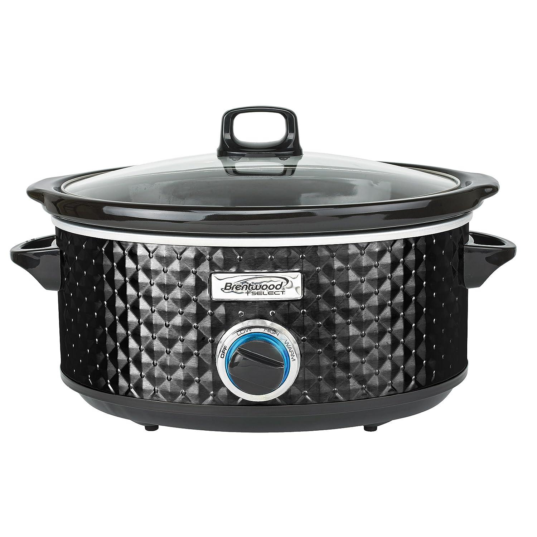 Brentwood Select SC-157BK Slow Cooker, 7 Quart, Black