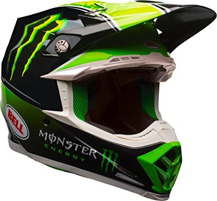 8b3a6b129e98c Bell Moto-9 MIPS Off-Road Motorcycle Helmet (Tomac Replica 17.2 Gloss  Black/Green, Large)