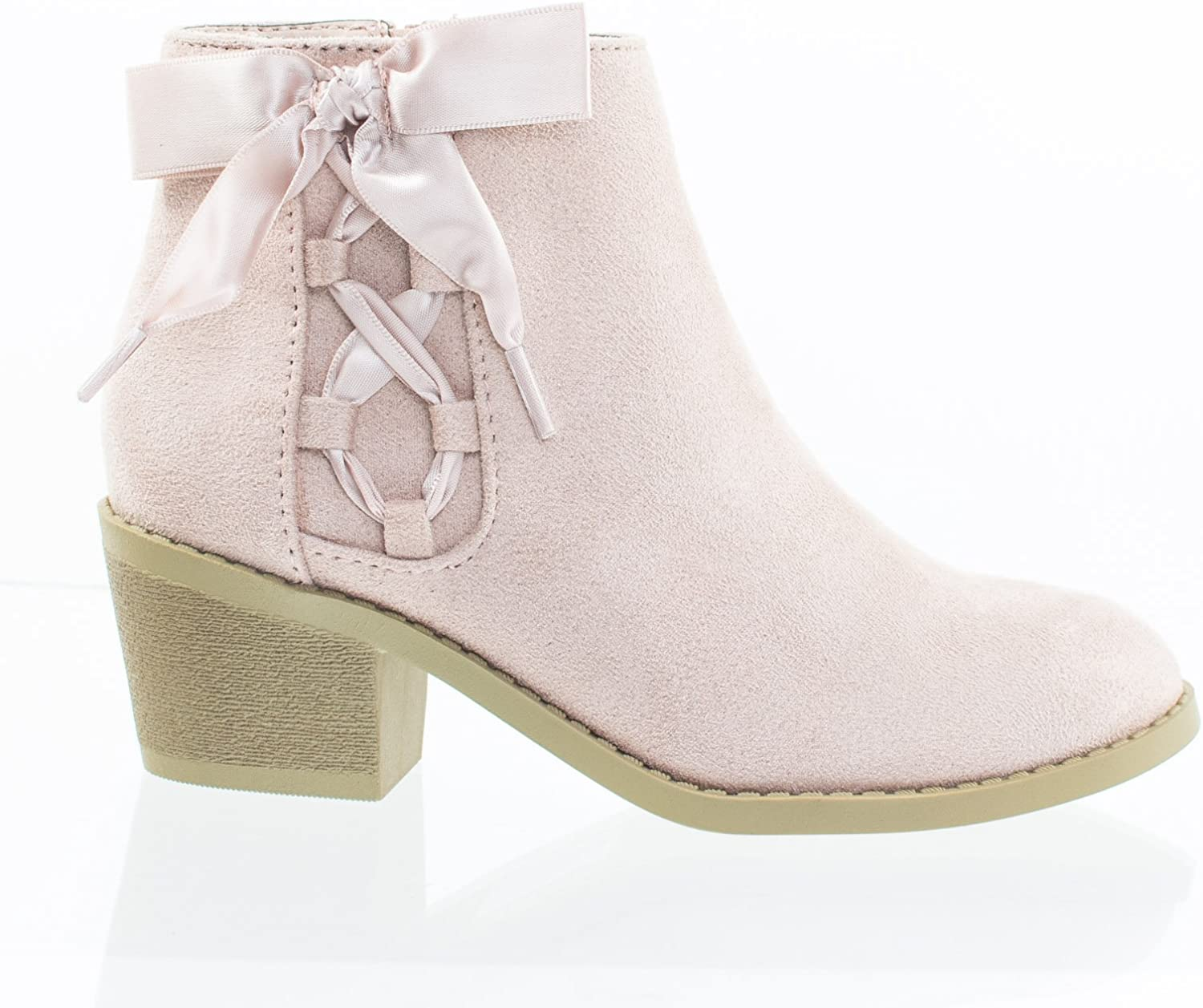 Girls Toddler Grey Bow Suede Ankle Boutique Chelsea Boots Kids Children Shoes