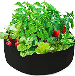50 Gallon Plant Grow Bag, Large Heavy Duty Fabric Grow Pot for Vegetables, Durable Breathe Cloth Planting Container for Potato, Carrot, Onion, Gardening and Outdoor