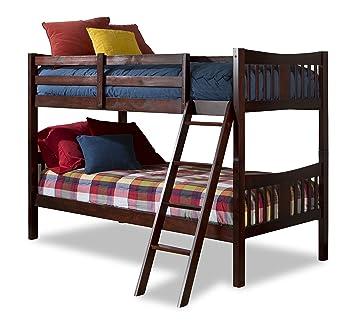 Amazon Com Storkcraft Caribou Solid Hardwood Twin Bunk Bed Cherry