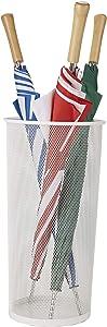 Mind Reader UMBHBASK-WHT Metal Mesh Basket, Entry Hallway Umbrella Holder, Home, Office Décor, White