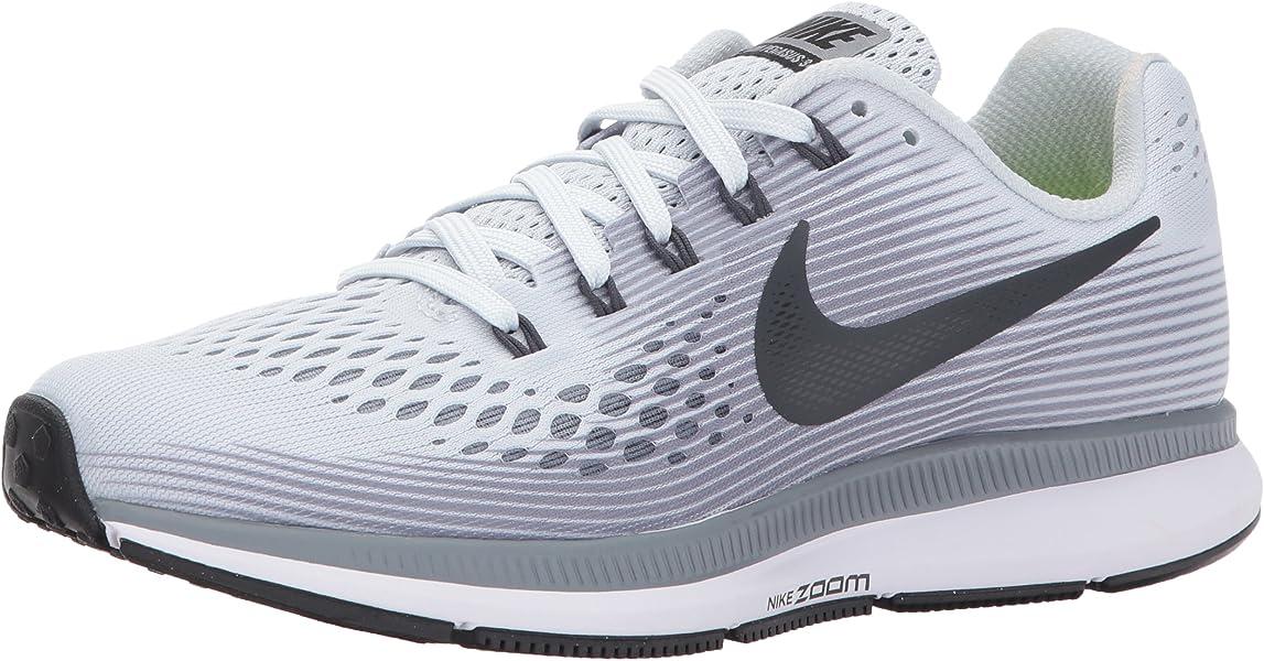 5b78b4fd14f2f Nike Womens Air Zoom Pegasus 34 Pure Platinum Anthracite Running Shoe 8  Women US