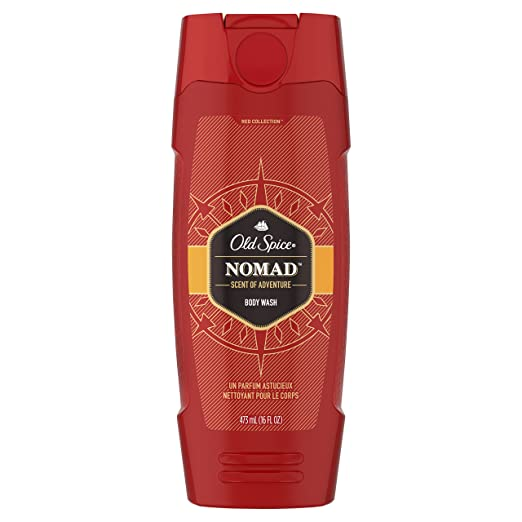 Old Spice Men's Body Wash, Nomad Scent, Red Collection, 16.0 Fluid Ounce (Pack of 6)