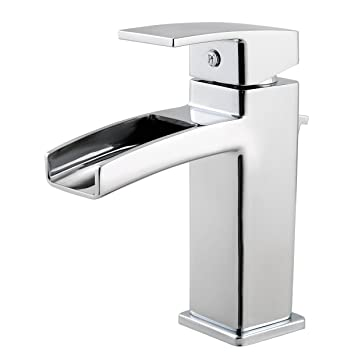 Pfister GT42DF0C Kenzo Single Control Waterfall 4 Inch Centerset Bathroom  Faucet In Polished Chrome