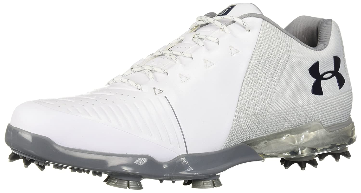 Under Armour Men's Spieth 2 Golf Shoe, 白い (105)/Metallic 銀, 8.5