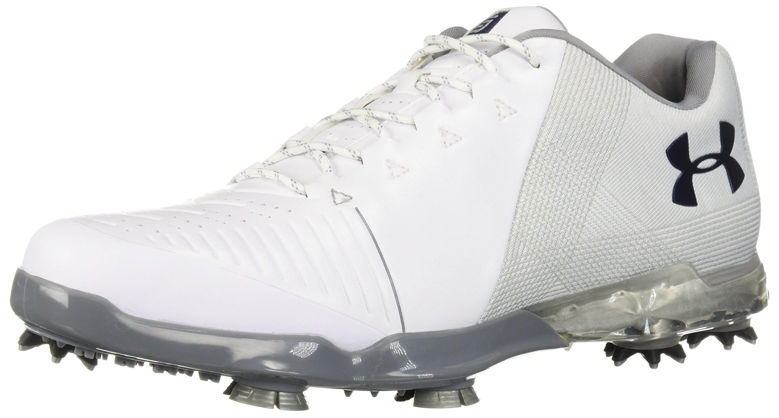 Under Armour Men's Micro G Pursuit Running Shoe Golf, Steel (112)/Black, 9