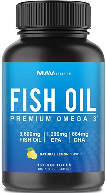Product thumbnail for Premium Omega 3 Fish Oil by MAV Nutrition