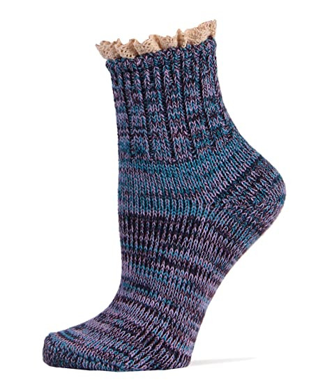 Sockitup Womens Double Knit Crew Socks D Cascade Range At Amazon