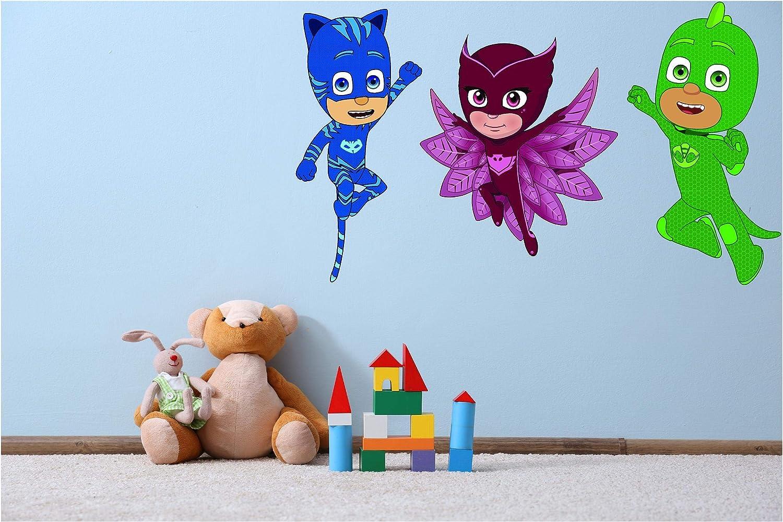 "DS Inspirational Decals PJ Masks Vinyl Wall Art Decal - 12"" x 20"" Removable Home Disney Animated Kids TV Series Decor Design Kids Bedroom Nursery Sticker Decoration - Catboy and Owlette"