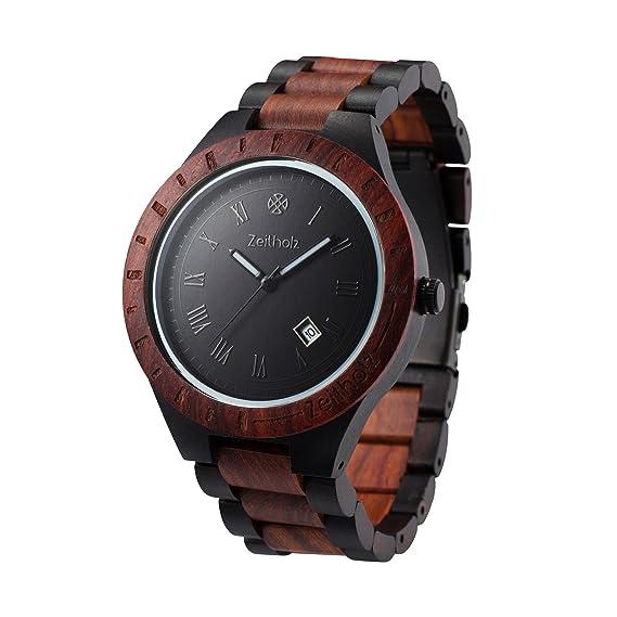 Reloj de madera ZEITHOLZ – Zittau - 100% de Madera de Sándalo - Producto Natural
