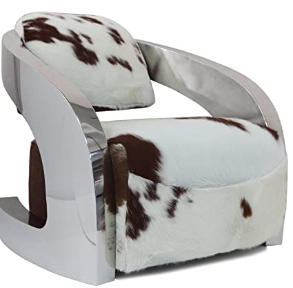 Enjoyable Amazon Com Infinity Authentic Cowhide Luxurious Chair With Squirreltailoven Fun Painted Chair Ideas Images Squirreltailovenorg