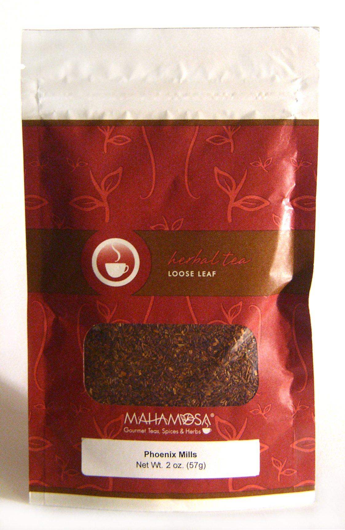 Mahamosa Phoenix Mills 2 oz (Vanilla, Caramel, Honey) - Rooibos Herbal Tea Blend Loose Leaf (Looseleaf), Dessert Tea