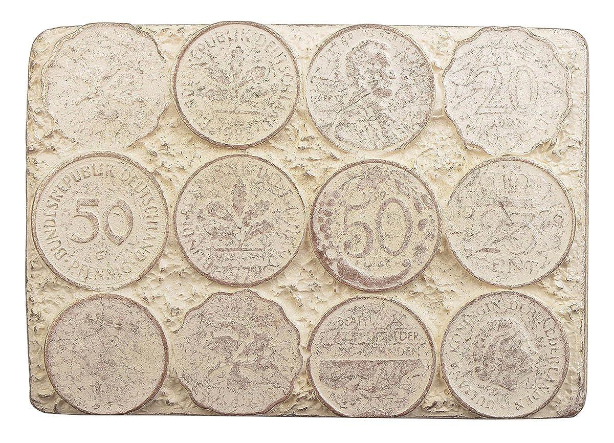7,7 x 5,4 cm f/ür G/ürtelbreite Gr/össe ca M/ünzen G/ürtelschnalle Buckle M/ünze Pfennig Geld M/ünzen 40 mm