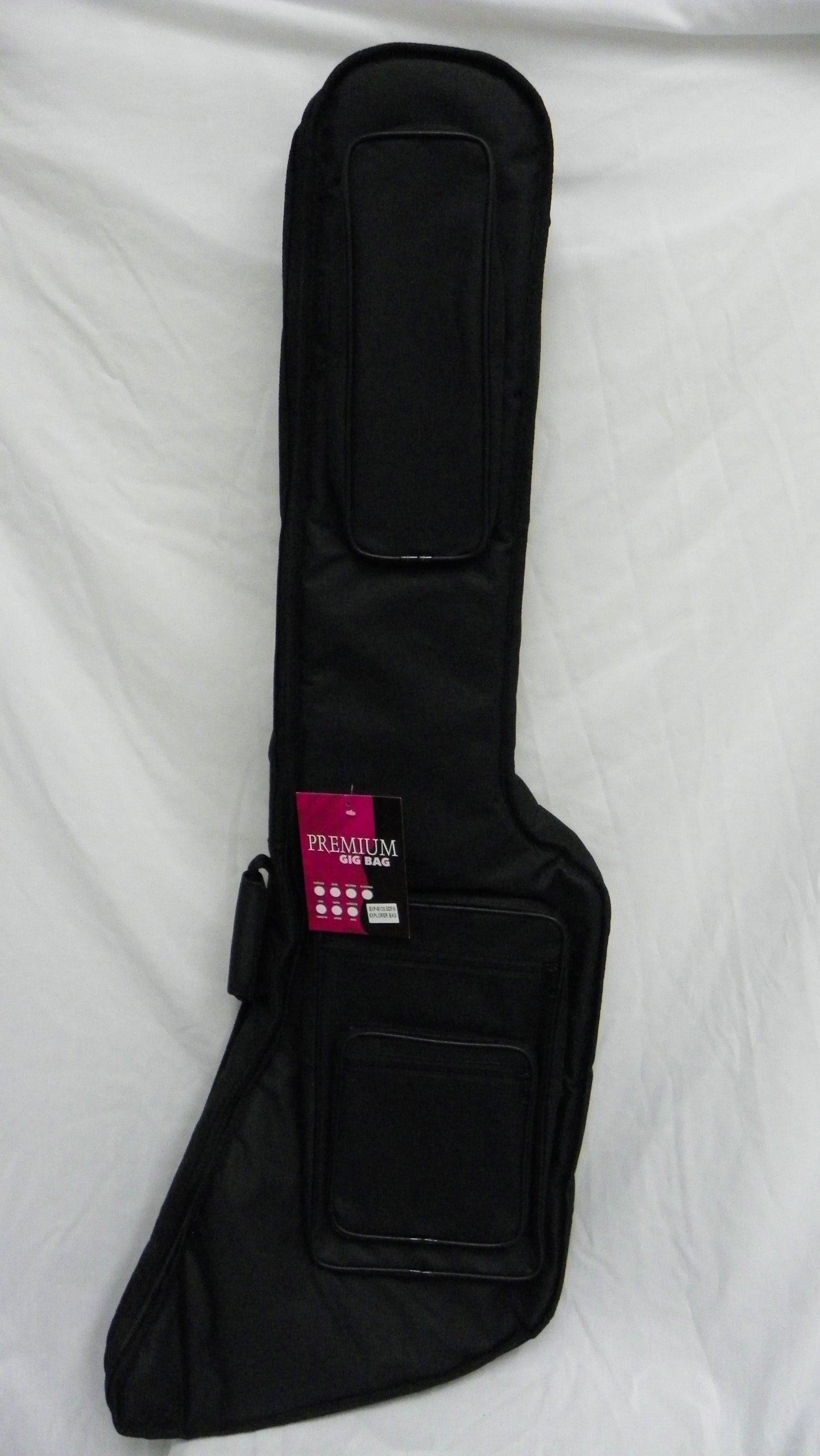 Extra Thick Explorer Bass Guitar Gig Bag /soft case