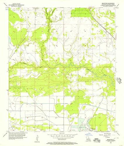 Amazon.com: Louisiana Maps | 1956 Brimstone, LA USGS ...