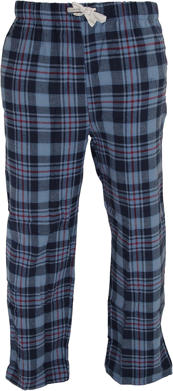 Cargo Bay - Pantalones de pijama a cuadros de algodón para hombre (Grande (L)/Cuadros Azules): Amazon.es: Ropa y accesorios
