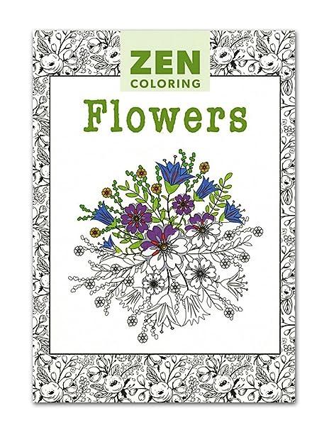 Coloriage Fleur Zen.Zen Livre De Coloriage Fleurs Amazon Fr Cuisine Maison