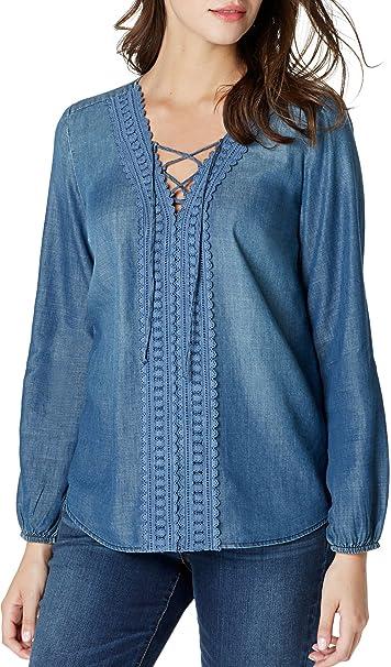 Vintage America Blues Para mujer Blusa - Azul -