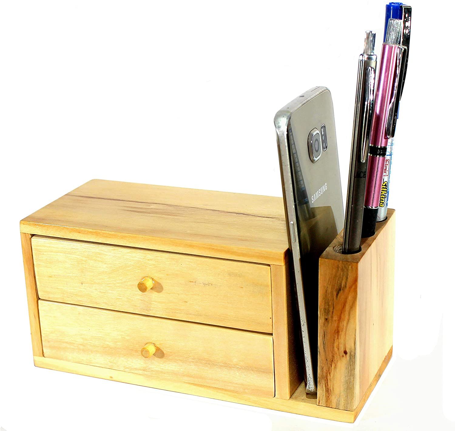 eSplanade Soporte para lápices de madera con soporte para lápices ...