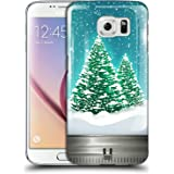 Head Case Designs Bäume Weihnachten Im Einweckglas Ruckseite Hülle für Samsung Galaxy S6