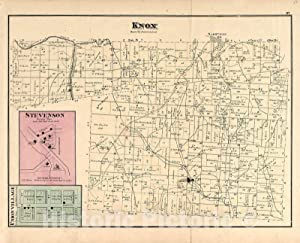 Historic 1875 Map - Caldwell's Atlas of Holmes Co, Ohio - Knox - Caldwell's Atlas of Holmes County, Ohio 55in x 44in