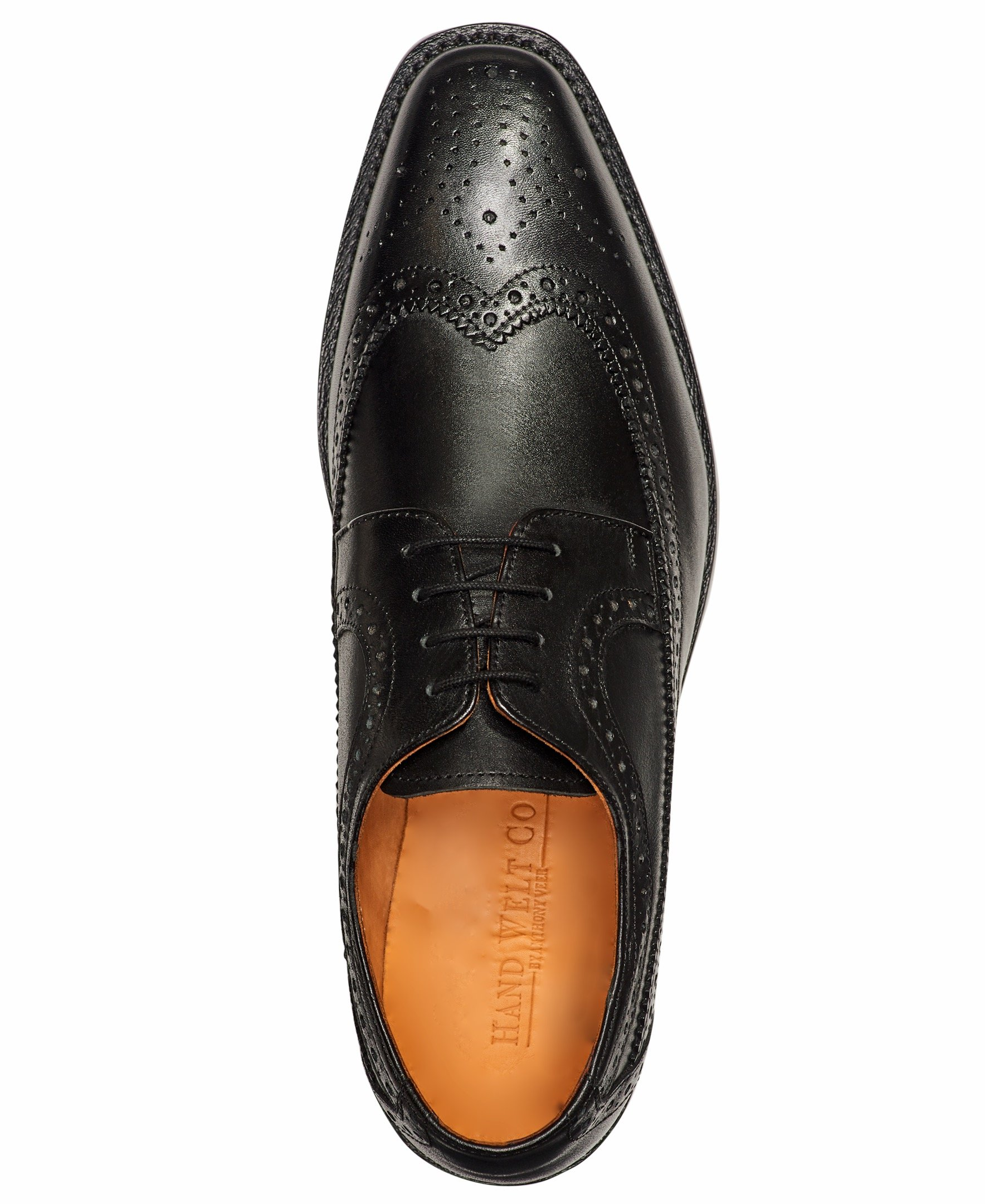 Anthony Veer Mens Regan Oxford Full Brogue Leather Shoes in Goodyear Welted Construction (8.5 D, Black) by Anthony Veer (Image #4)