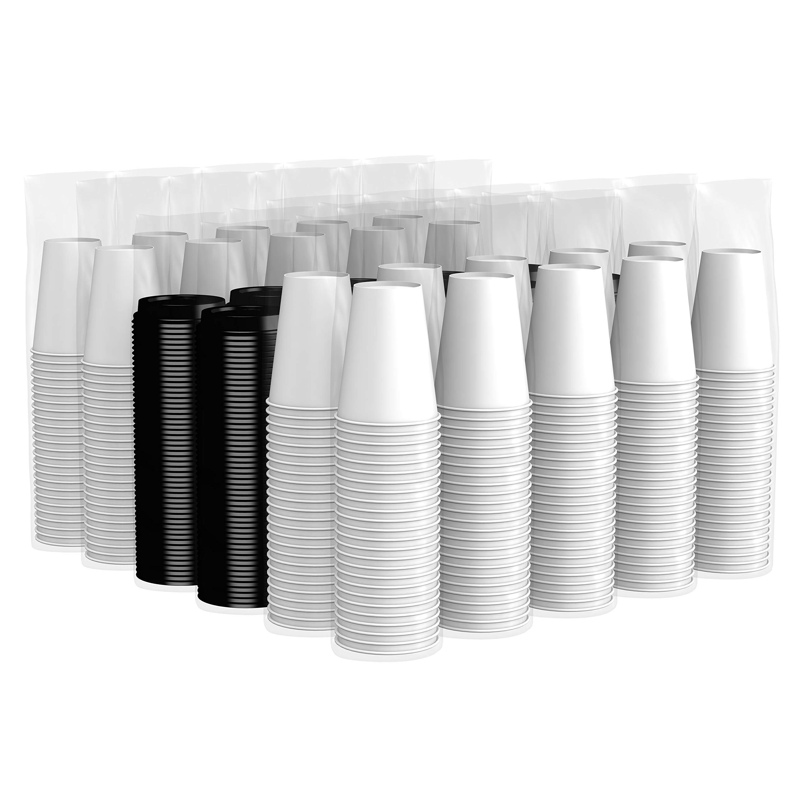 Amazon Brand - Solimo 12oz Paper Hot Cup with Lid, 500 Count by Solimo (Image #4)