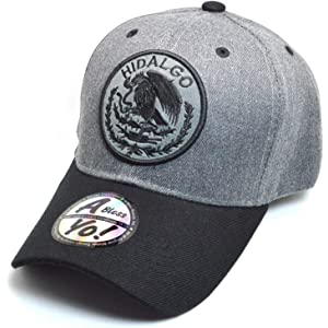 AblessYo Mexican hat Mexico Federal Logo Embroidered Curved Baseball Cap AYO6039