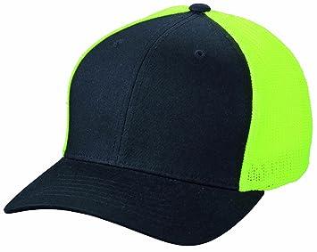 29765b7819f Myrtle Beach Mesh CAP Flexfit Black black neon-yellow Size S M ...