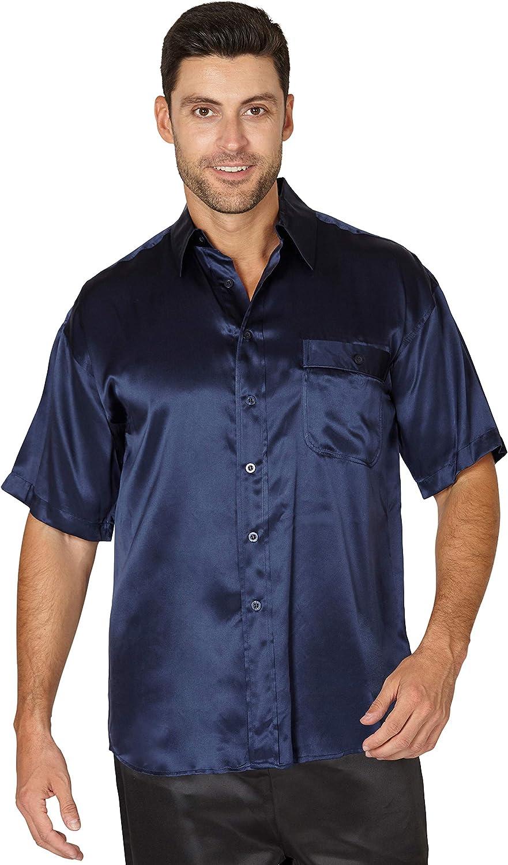INTIMO Men's Short Sleeve Camp Shirt