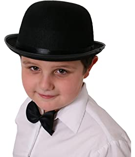 d5d28487f1c Bowler Felt Child Size - Black Bowler Hats Caps   Headwear for Fancy ...