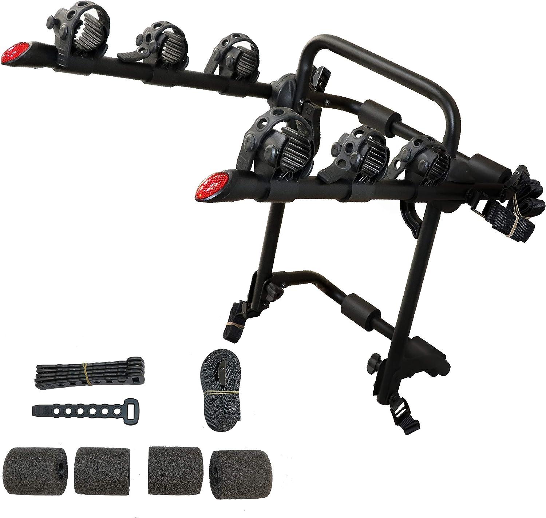 Trunk Mount 3 Bike Rack Bicycle Carrier Hatchback SUV Car Outdoor Qucik Release